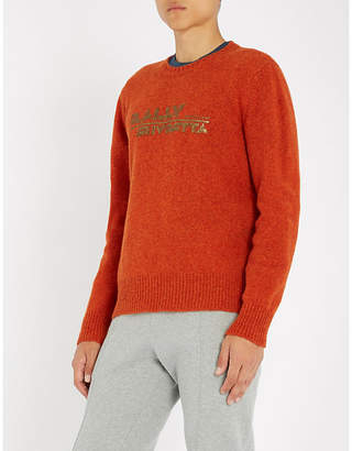 Bally Logo-print wool jumper