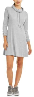 Eye Candy Juniors' Funnel Neck Fit & Flare Hacci Dress