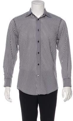 Z Zegna Striped Button-Up Shirt