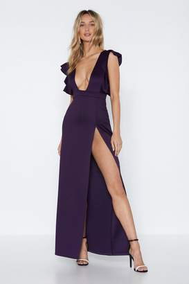Nasty Gal Deep Night Maxi Dress