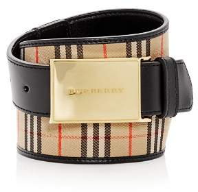 Burberry Charles Plaque Buckle 1983 Check Belt