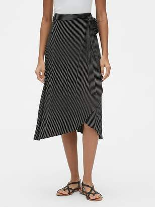Gap Knit Wrap Tie-Belt Midi Skirt