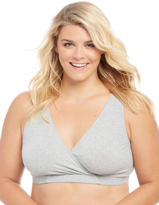 Motherhood Maternity Plus Size Wrap Nursing Sleep Bra
