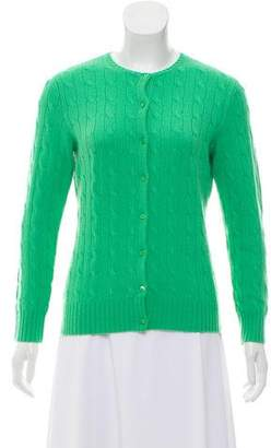 Ralph Lauren Cashmere Cable-Knit Cardigan