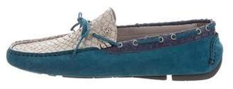 Just Cavalli Embossed Suede Loafers