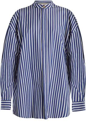 Awake Oversized striped cotton shirtdress