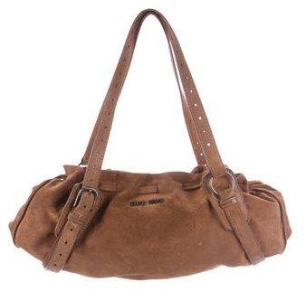 Miu MiuMiu Miu Suede Drawstring Bag