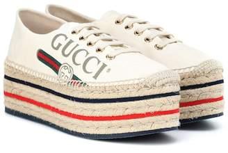 Gucci Platform logo espadrilles