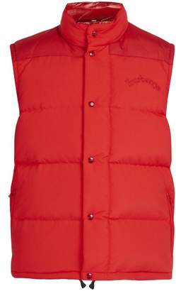 Burberry Hillfield Logo Embroidered Padded Gilet - Mens - Red