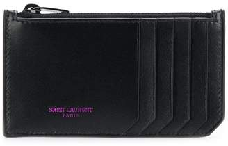 Saint Laurent zip leather purse