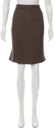 Armani Collezioni Pleated Wool Skirt w/ Tags