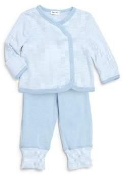 Splendid (スプレンディッド) - Splendid Splendid Baby Boy's Two-Piece Stripe Kimono Top& Pants Set - Light Blue - Size 6-9 Months