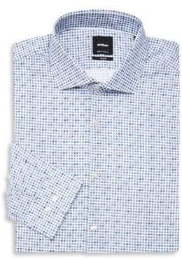 Strellson Slim-Fit Geometric Dress Shirt