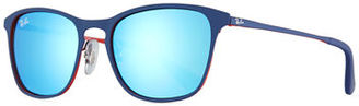 Ray-Ban Junior Junior Chris Mirrored Square Sunglasses $100 thestylecure.com