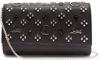 Christian Louboutin Paloma embellished leather clutch