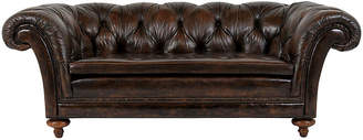 One Kings Lane Vintage Chesterfield Tufted Leather Club Sofa - Castle Antiques & Design