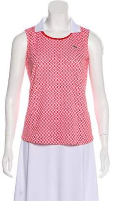 Lacoste Sleeveless Printed Top