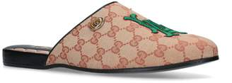 Gucci Embroidered LA Flamel Slippers