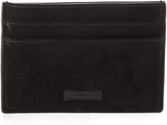 DKNY Black Suede Card Case