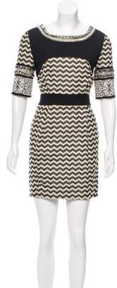 Matthew Williamson Short Sleeve Mini Dress