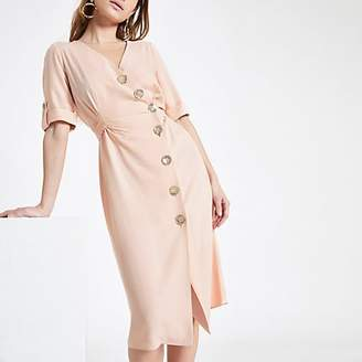 River Island Petite button front midi dress