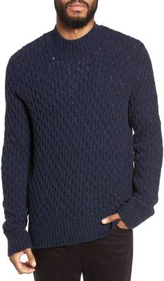 Vince Regular Fit Honeycomb Mock Neck Sweater