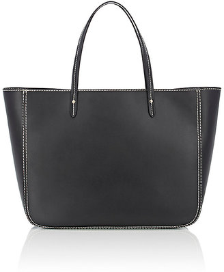 Barneys New York Women's Contrast-Topstitched Tote $350 thestylecure.com