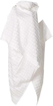 Issey Miyake asymmetric layered geometric dress