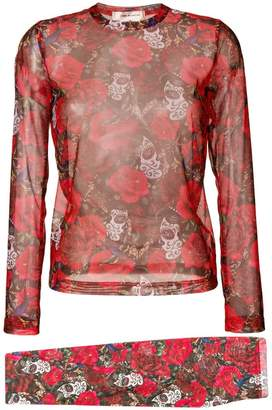 868ad3da83 Comme des Garcons rose print top