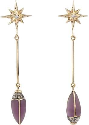 Bibi Van Der Velden Mixed Metal and Diamond Scarab Earrings