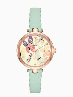 Kate Spade Holland butterfly mint leather watch