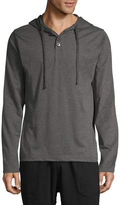 Unsimply Stitched Hooded Long Sleeve Shirt
