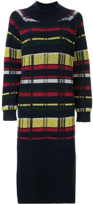 Coohem retro check knitted dress