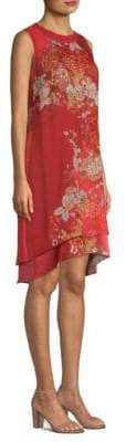 Elie Tahari Malaya Barn Door Floral Shift Dress