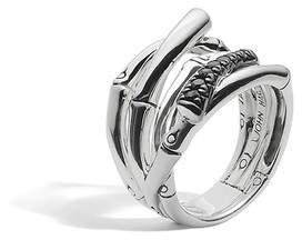 John Hardy Bamboo Ring With Black Sapphire