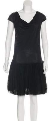 Haute Hippie Short-Sleeve Knee-Length Dress