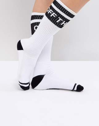 Vans Crew Socks With Off The Wall Logo