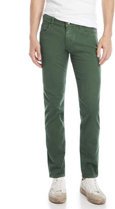 Dolce & Gabbana Army Green Mid-Rise Straight Jeans