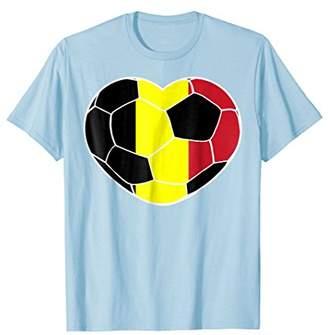 Belgium Soccer Ball Heart Jersey Shirt - Belgian Football