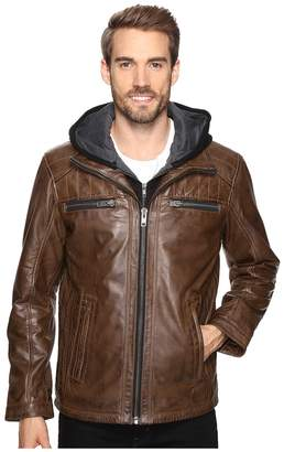 Scully Karl Leather Jacket with Zip Out Hoodie Men's Coat