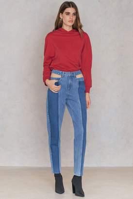 NA-KD Na Kd Cut Out Panel Jeans