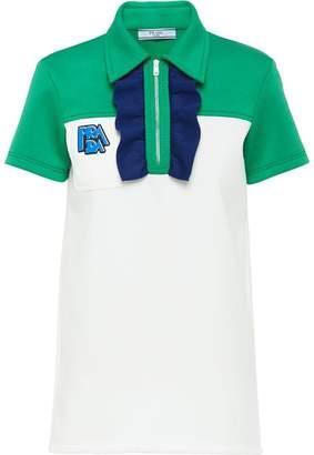 Prada ruched detail polo shirt