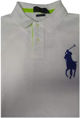Ralph Lauren Polo Mens Short Sleeve Custom Fit Big Pony Shirt White