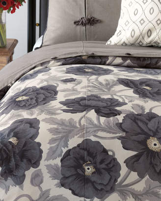 Poppy King Eastern Accents Midnight Poppy Oversized King Duvet