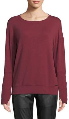 Blanc Noir Marin Crewneck Pullover Sweatshirt