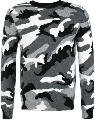 Valentino camouflage long-sleeve sweater