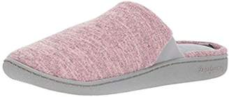 Dearfoams Women's Mem Foam Upper Clsd Toe Scuff