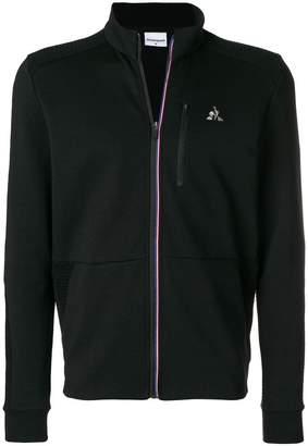Le Coq Sportif logo zipped sweatshirt