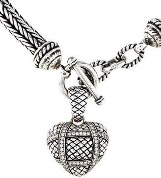 Scott Kay Diamond Wrapped Heart Pendant Necklace