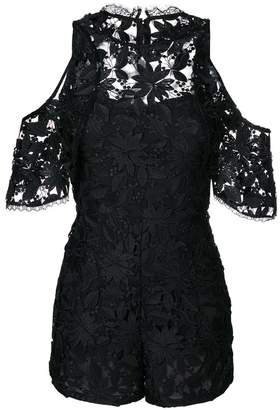 Alice + Olivia Alice+Olivia embroidered playsuit